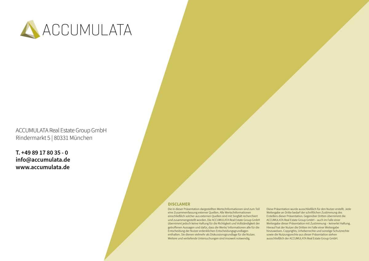 ACCUMULATA PowerPoint Unternehmenspräsentation Schlussfolie