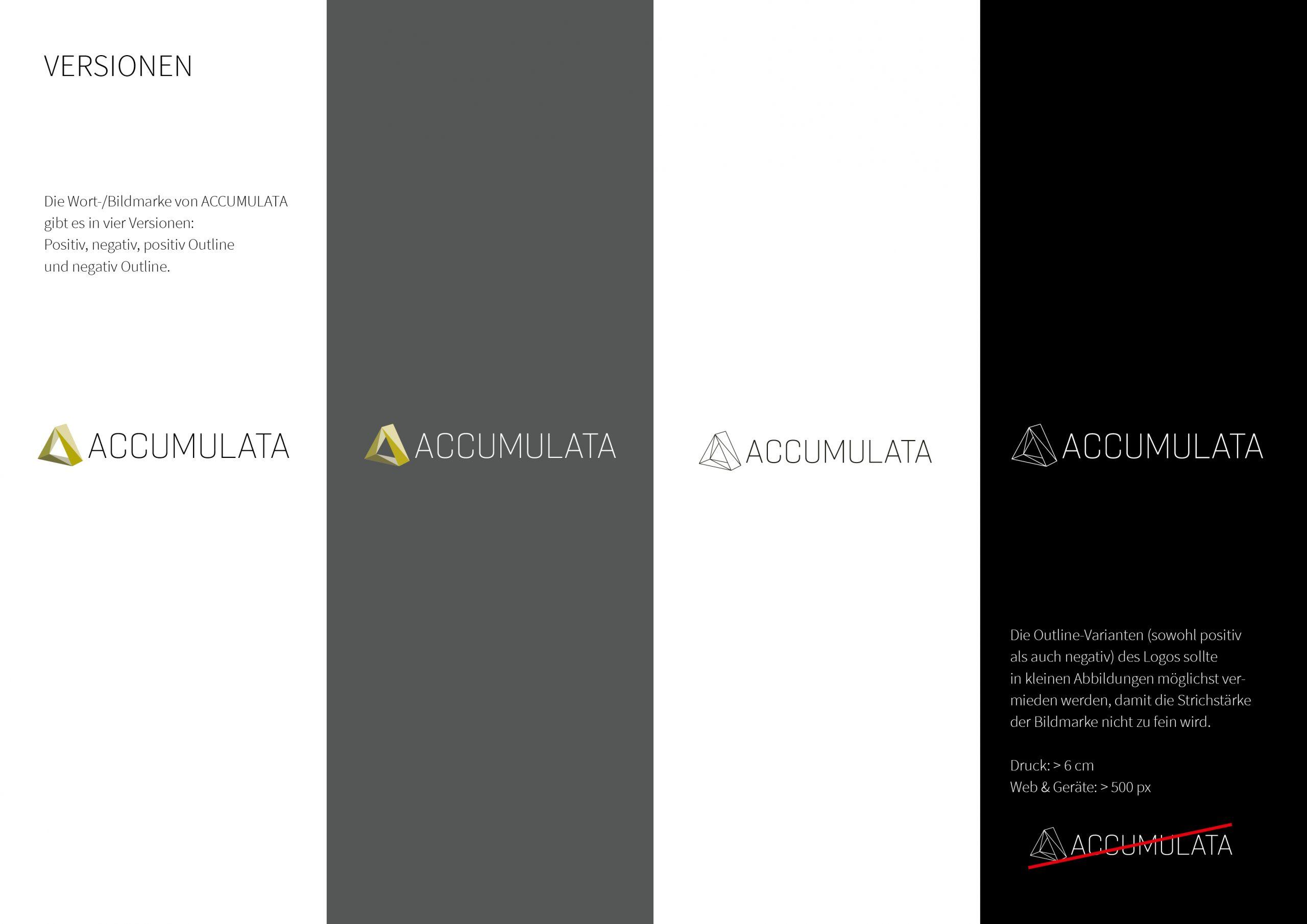 ACCUMULATA Styleguide Logovarianten